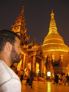 Meditation under the Shwedagon Pagoda (Yangon, Burma)