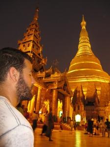 Meditation under the Shwedagon Pagoda (Yangon, Burma)